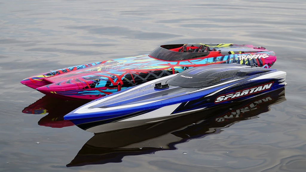 photo of a remote control power boat