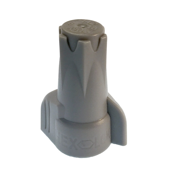 GB Hex-Lok 10-2H2 Wire Connector, 6 to 14 AWG Wire, Copper Contact, Thermoplastic Housing Material, Gray