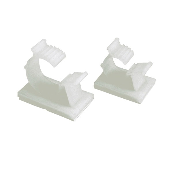 GB GKK-1575 Cable Holder, 3/4 in Max Bundle Dia, Nylon/Plastic, White