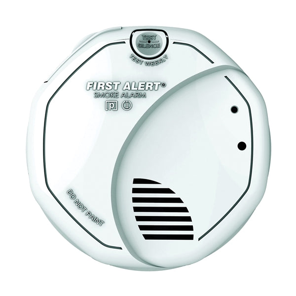 FIRST ALERT SA320CN Smoke and Fire Alarm, 1.5 V, Ionization, Photoelectric Sensor, 85 dB, White