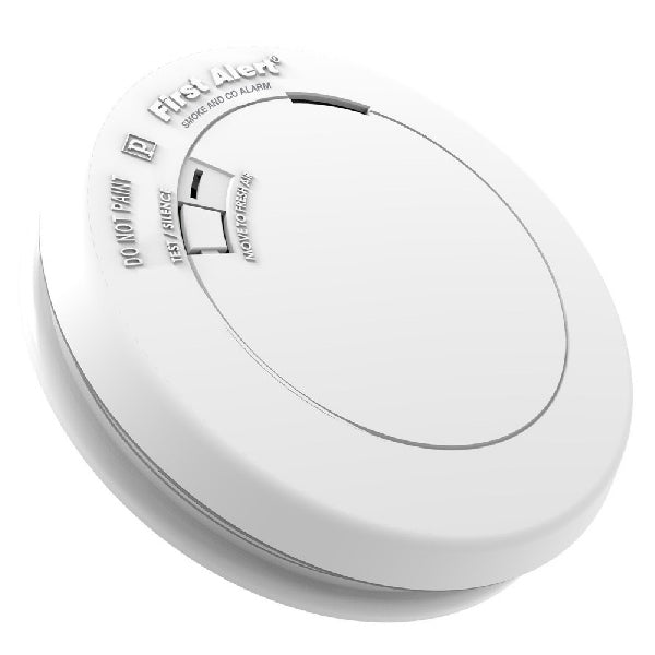 FIRST ALERT 1039868 Smoke and Carbon Monoxide Alarm, 85 dB, Alarm: Audible, Electrochemical, Photoelectric Sensor