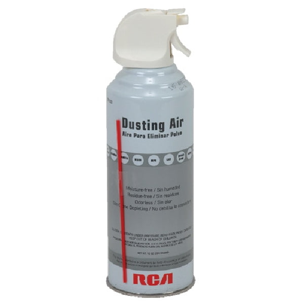 RCA TPH303R Dusting Air, 10 oz Can, Gray/White