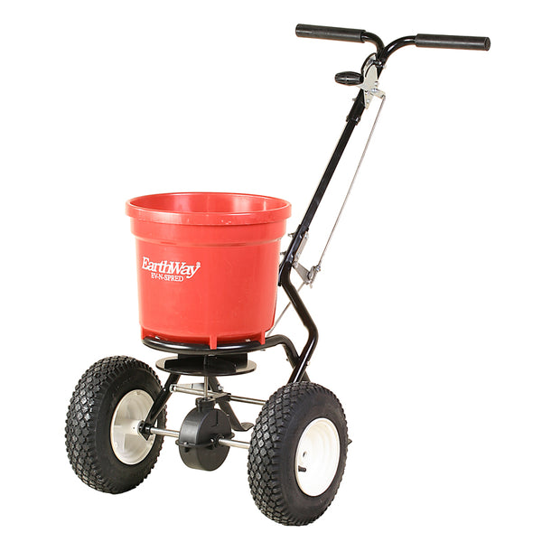 EarthWay 6157580 Spreader Broadcast Push, 50 lb Capacity, Pneumatic Wheel