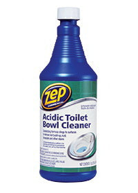 Zep ZUATB32 Acidic Toilet Bowl Cleaner, 1 qt, Liquid, Mint, Blue