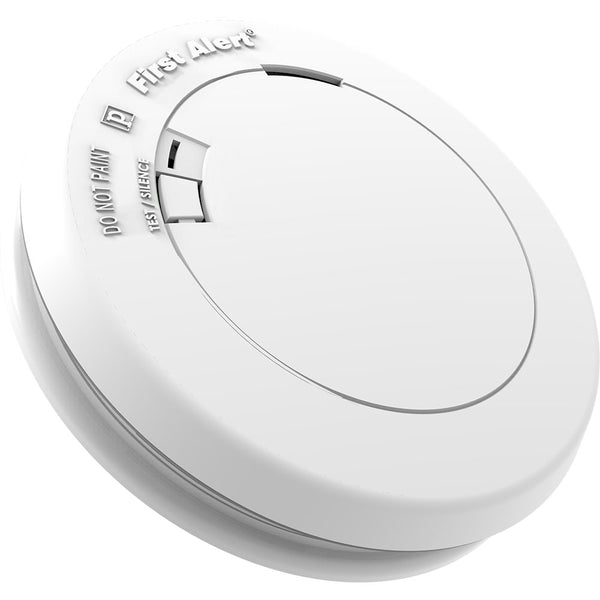 FIRST ALERT 1039772 Smoke and Fire Alarm, 9 V, Photoelectric Sensor, 10 ft Detection, 85 dB, Alarm: Audible, White