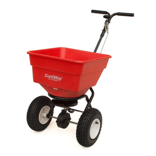 EarthWay 2170PRO Broadcast Spreader, 100 lb Hopper, 175 lb Load Bearing Capacity, Polyethylene Hopper