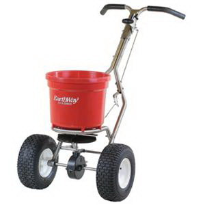EarthWay C22HDS Broadcast Spreader, 50 lb Hopper, 250 lb Load Bearing Capacity, Polyethylene Hopper