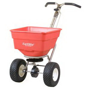 EarthWay C24HDS Broadcast Spreader, 100 lb Hopper, 250 lb Load Bearing Capacity, Polyethylene Hopper