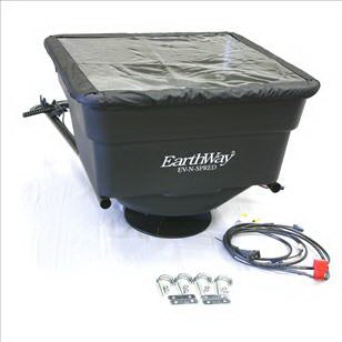 EarthWay M30 ATV Broadcast Spreader, 100 lb Hopper, Plastic Hopper, 10 to 12 ft W Spread
