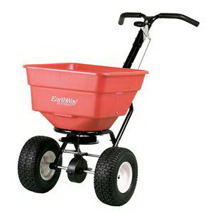 EarthWay C24HD Broadcast Spreader, 100 lb Hopper, 250 lb Load Bearing Capacity, 12 ft W Spread, Polyethylene Hopper