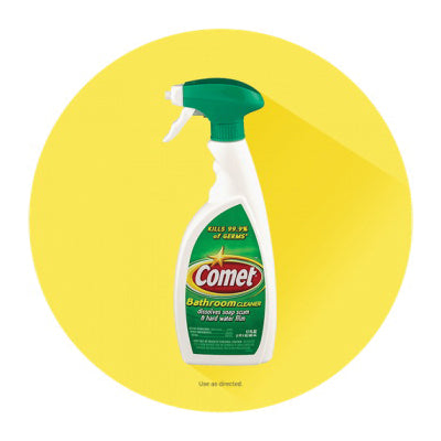 Comet 16529606861 Bathroom Cleaner, 17 oz, Liquid, Fresh, Clear