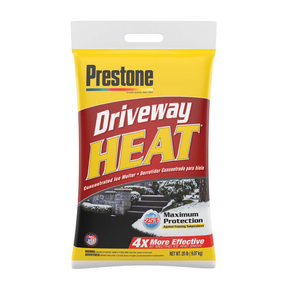 SWI Prestone Driveway Heat 20B-HEATP Ice Melter, Pellet, White, 20 lb Bag