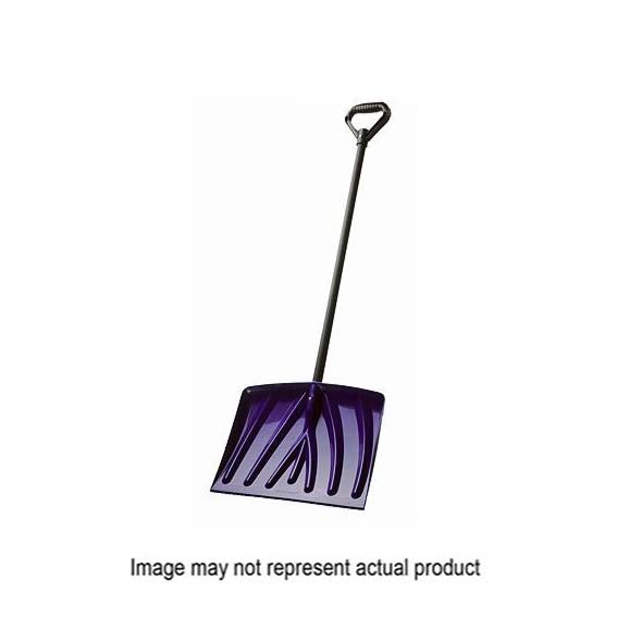 Suncast PLT-SN100060D Snow Shovel, 18 in W Blade, 13 in L Blade, Poly Blade, Steel Handle, 48 in OAL, Assorted