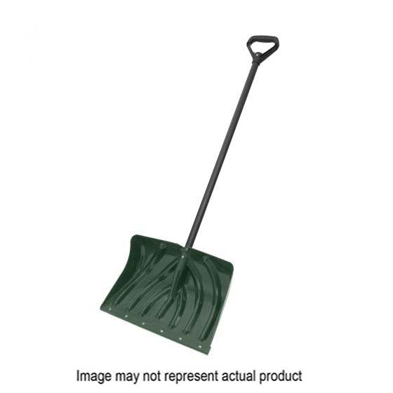 Suncast PLT-SC135048DH Combo Snow Shovel, 18 in W Blade, 12 in L Blade, Steel Handle, 51 in OAL, Black/Hunter Green