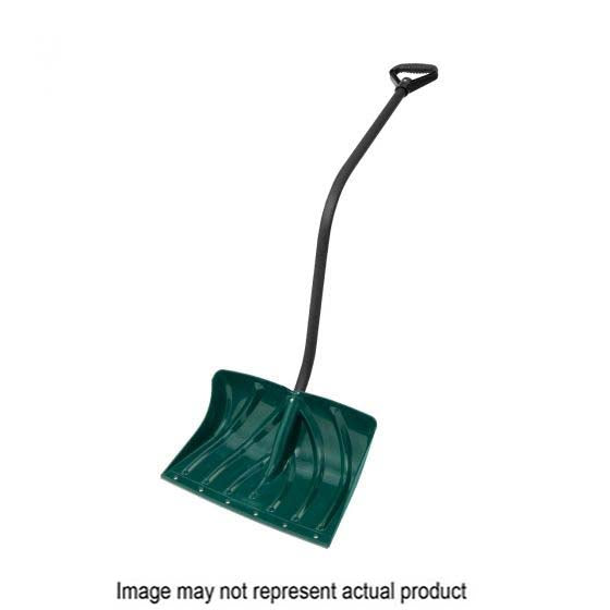 Suncast PLT-SC325044D Snow Shovel, 18 in W Blade, 12 in L Blade, Steel Handle, 52-1/2 in OAL, Black/Hunter Green