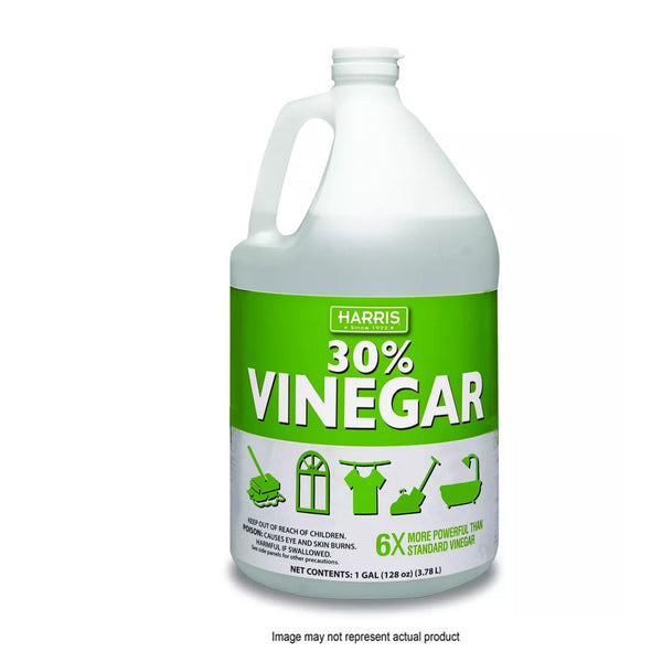 HARRIS VINE30-32 Industrial Strength Cleaning Vinegar, 32 oz, Liquid, Vinegar/Pungent, Clear
