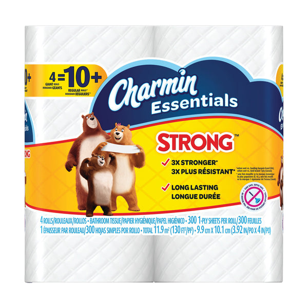 CHARMIN Essentials 96891 Bathroom Tissue, 1-Ply, Paper