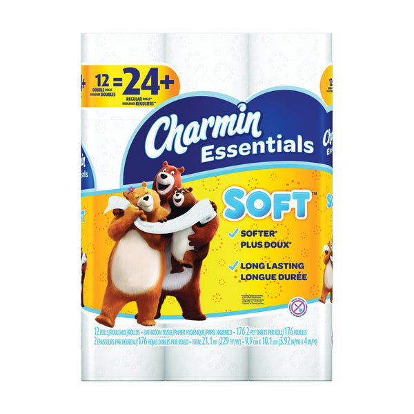 CHARMIN Essentials 96604 Bathroom Tissue, 2-Ply, Paper