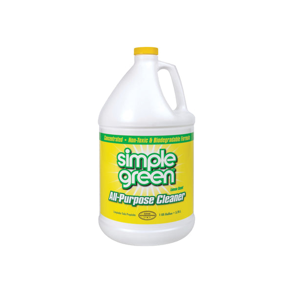 Simple Green 3010100614010 All-Purpose Cleaner, 1 gal Bottle, Liquid, Lemon, Yellow