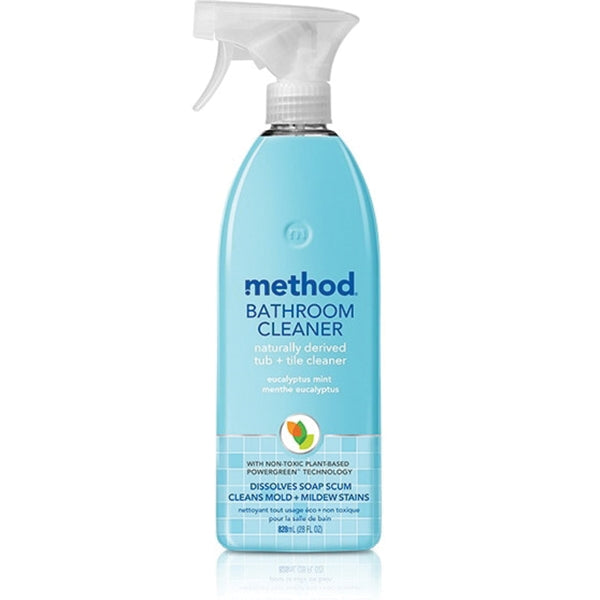 method 8 Bathroom Cleaner, 28 oz, Liquid, Herbaceous, Colorless/Translucent