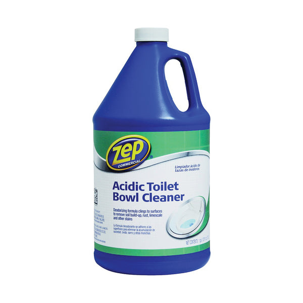 Zep ZUATB128 Toilet Bowl Cleaner, 1 gal, Liquid, Fresh Wintergreen, Mint, Blue