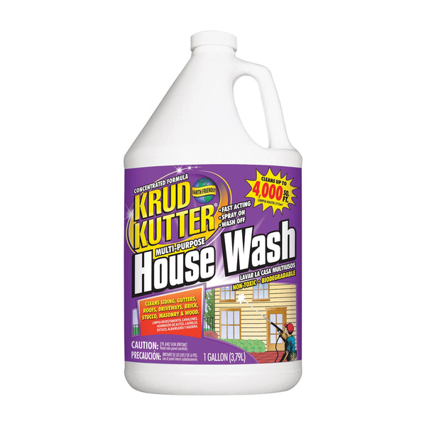 KRUD KUTTER HW012 House Wash Cleaner, 1 gal Bottle, Liquid, Mild