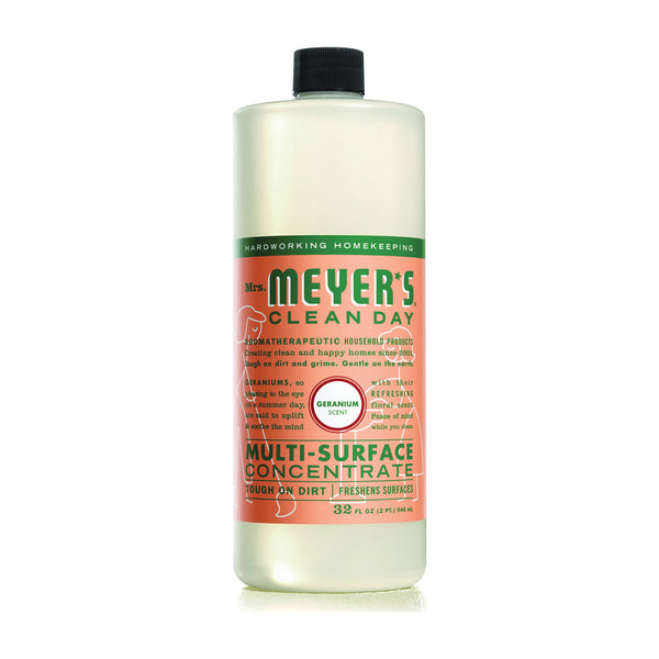 Mrs. Meyer's Clean Day 13440 Cleaner Concentrate, 32 oz Bottle, Liquid, Geranium