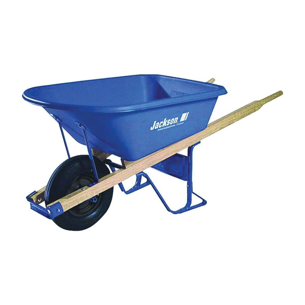 JACKSON MP57514 Contractor Wheelbarrow, 5-3/4 cu-ft Volume, Poly, 1 -Wheel