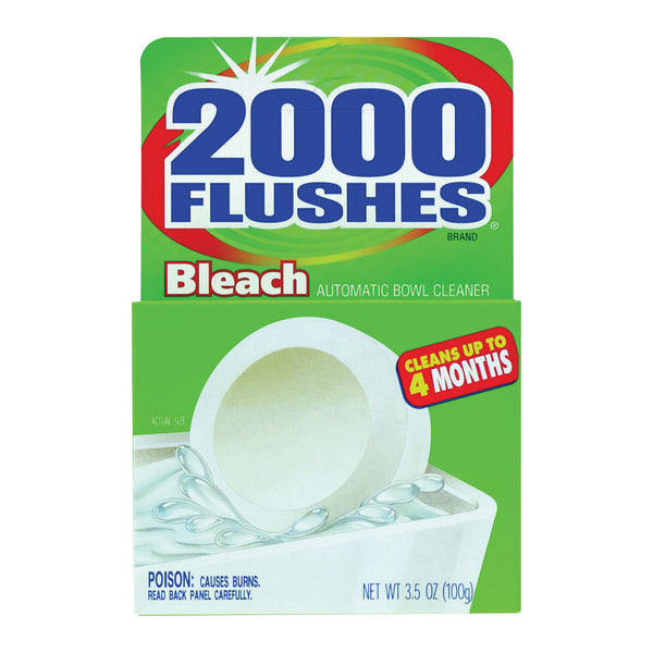 2000 Flushes 290071 Toilet Bleach Tablet, 1.75 oz, Tablet, Very Slight Pungent, Off-White