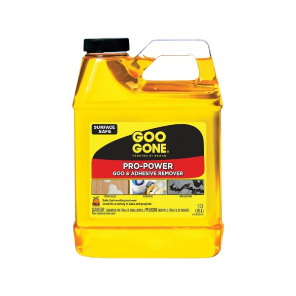 Goo Gone 2112 Goo and Adhesive Remover, 32 oz Bottle, Liquid, Citrus, Yellow