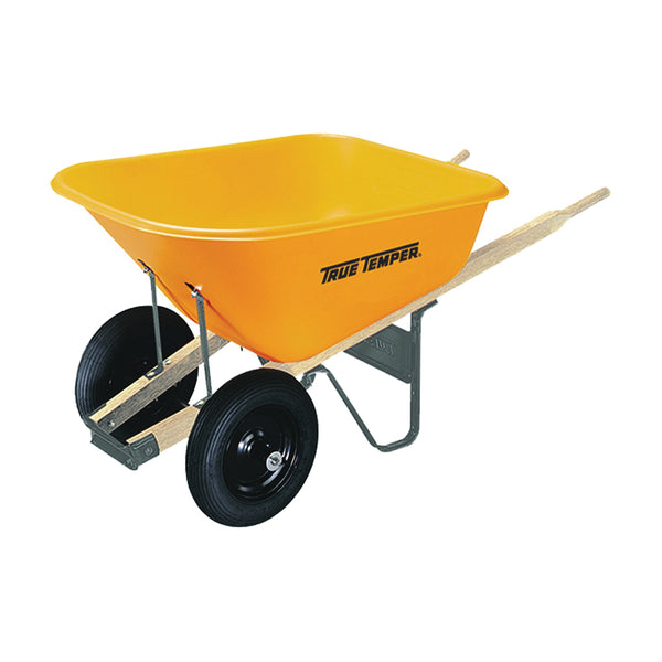 TRUE TEMPER 009908VB Wheelbarrow Tray, 8 cu-ft Capacity, Poly, Yellow