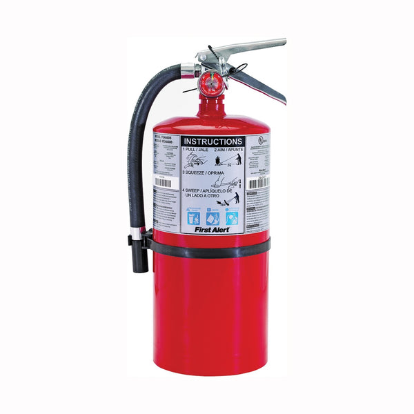 FIRST ALERT PRO10 Rechargeable Fire Extinguisher, 10 lb Capacity, Monoammonium Phosphate, 4-A:60-B:C Class
