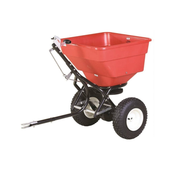 EarthWay 2170TSU Commercial Tow Broadcast Spreader, 100 lb Hopper, Poly Hopper, Stud Wheel
