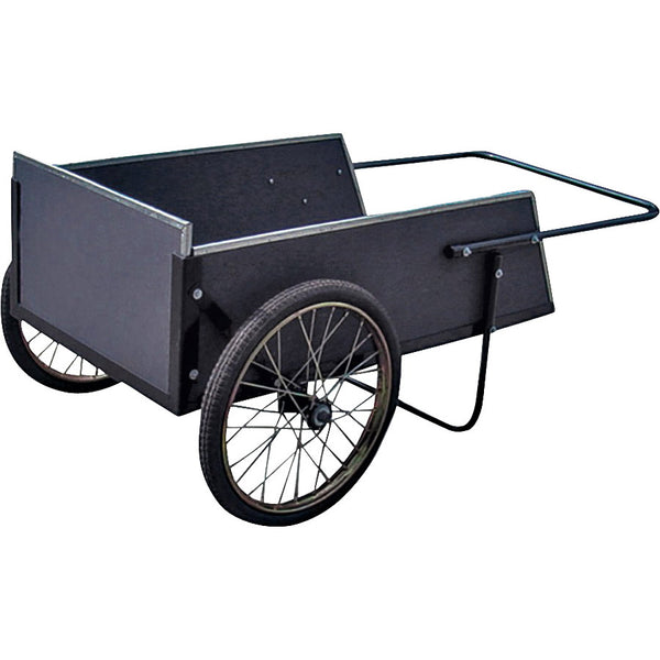 Vulcan YTL-002-087 Yard Cart, 300 lb, 42-1/2 L x 12-3/5 W x 24-2/5 H in Deck, Wood Deck, 2 -Wheel, 20 in Wheel