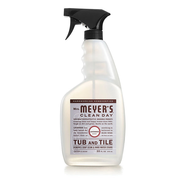 Mrs. Meyer's 11168 Tub and Tile Cleaner, 33 oz Spray Bottle, Liquid, Floral