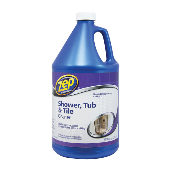 Zep ZUSTT128 Shower Tub and Tile Cleaner, 1 gal Bottle, Liquid, Pleasant, Light Yellow