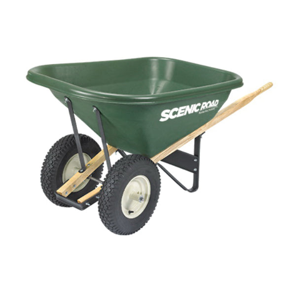 SCENIC ROAD Scenic Lane G8-2K Knobby Wheelbarrow, 400 lb Volume, Polyethylene/Steel, 2 -Wheel, Ball Bearing Wheel