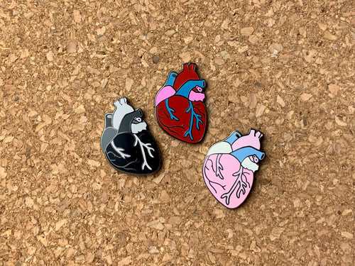 3 different heart variants. Natural, goth, and pastel goth.