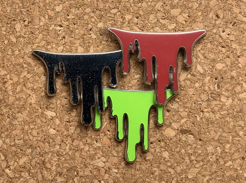 All three drip variants: blood, ink, slime.