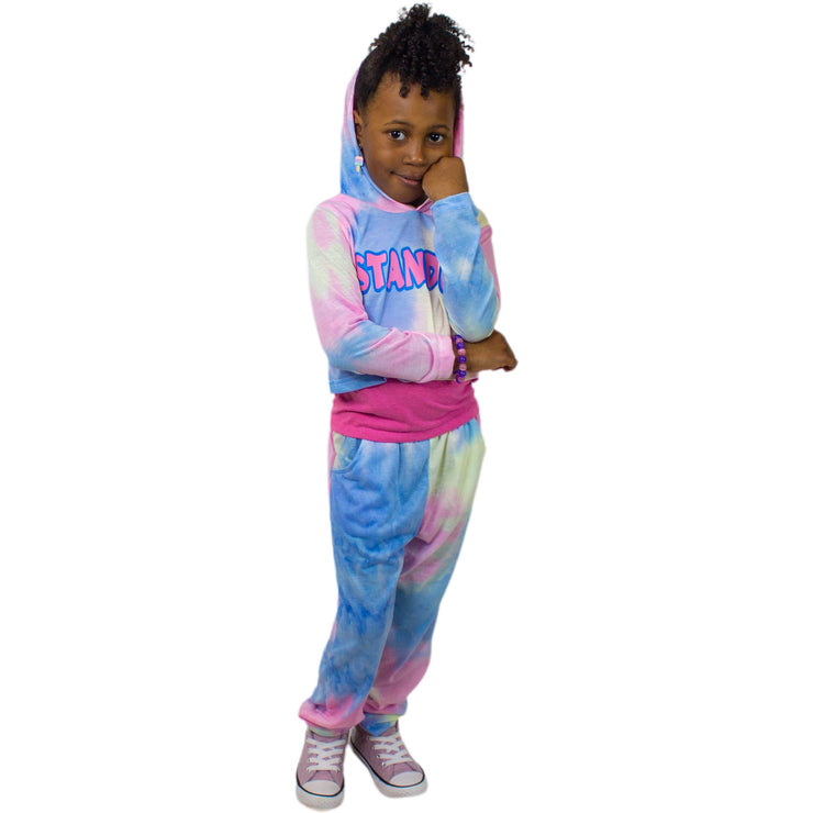 Stand Up Girls Tie Dye Hoodie with Joggers