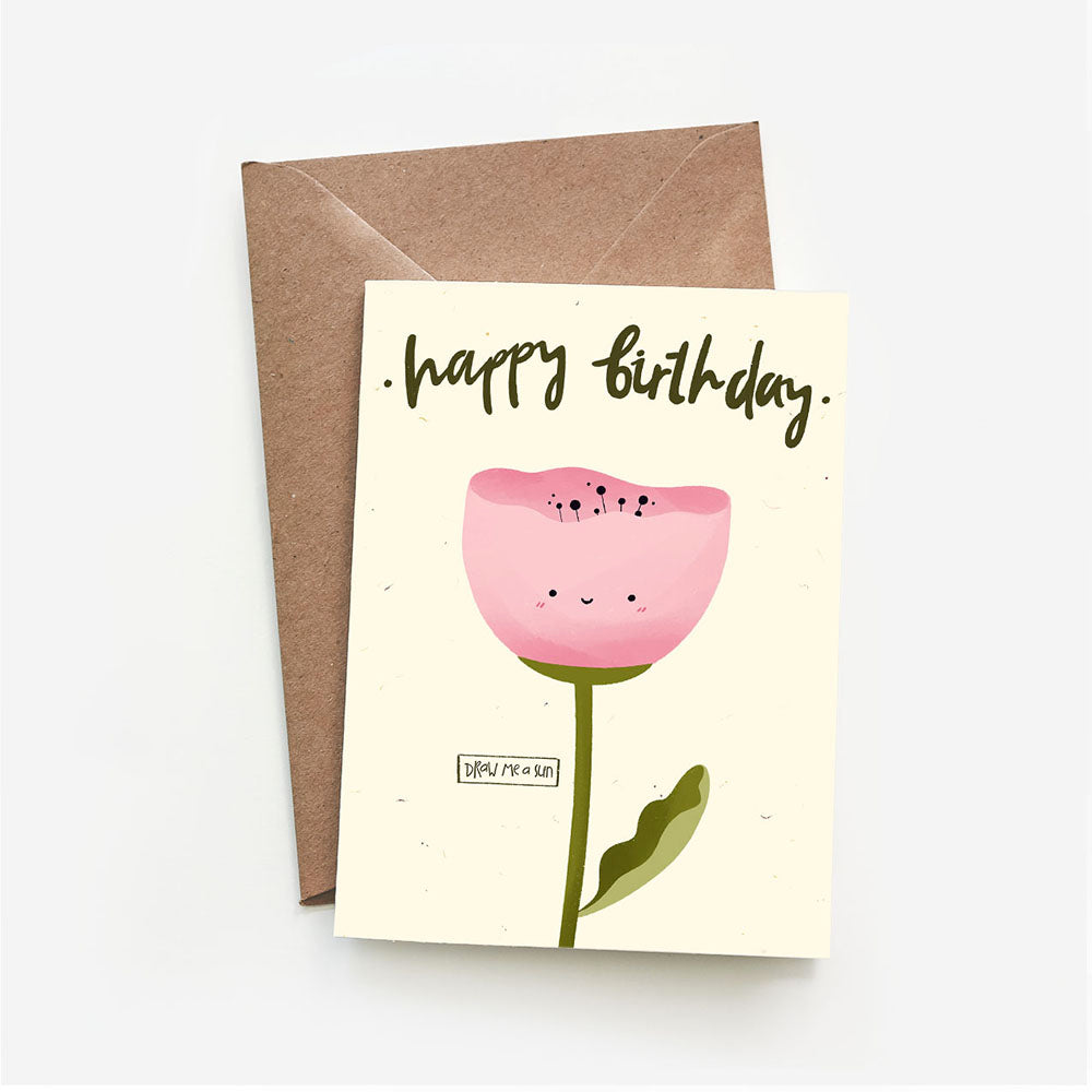 Happy Birthday Tulip I POSTCARD