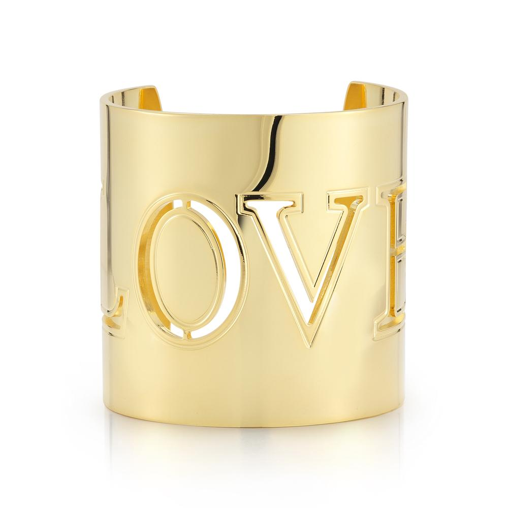 Gold LOVE Cuff Bracelet So Excessive