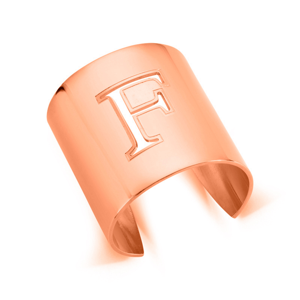 "Rose Gold ""F"" Initial cuff So Excessive"