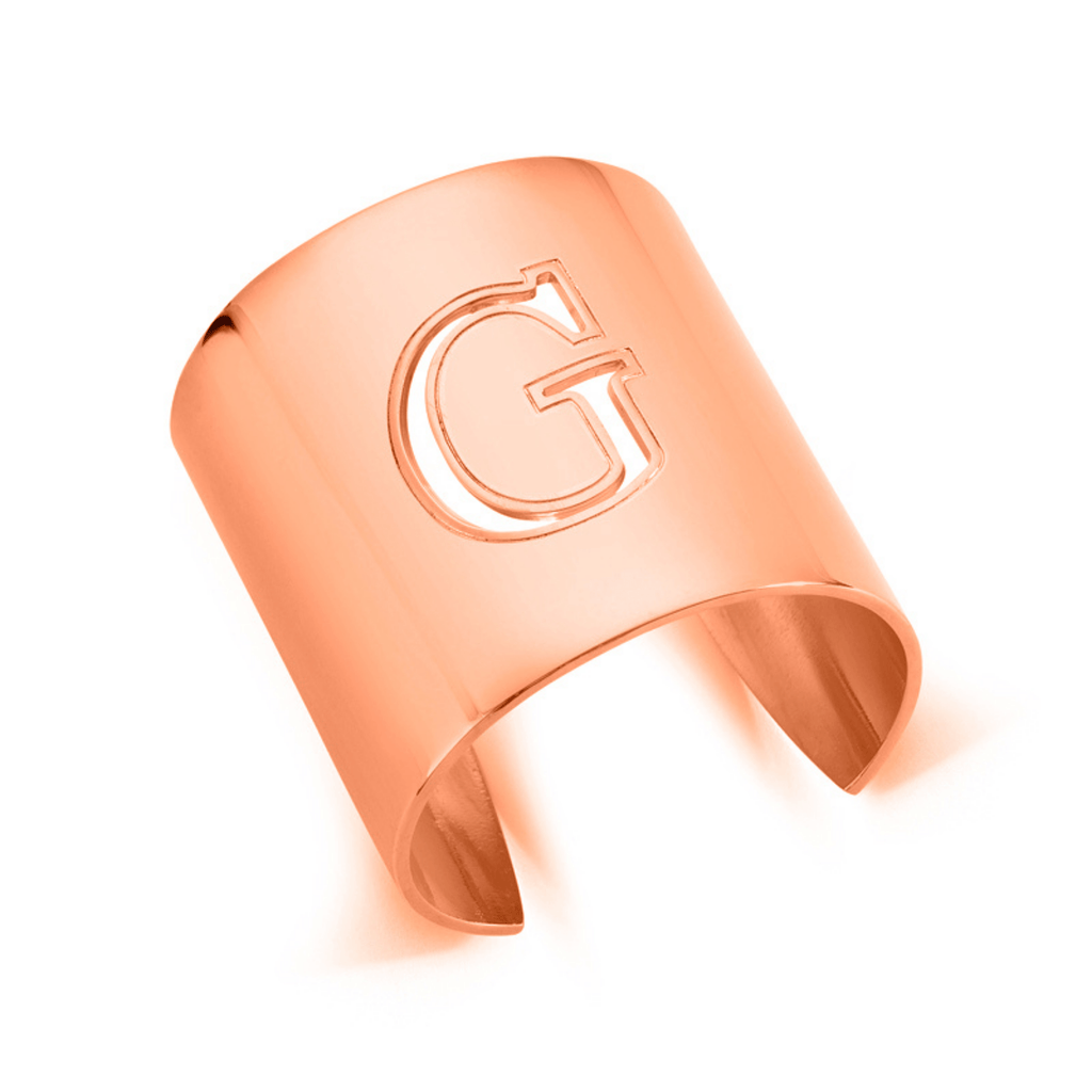 "Rose Gold ""G"" Initial cuff So Excessive"