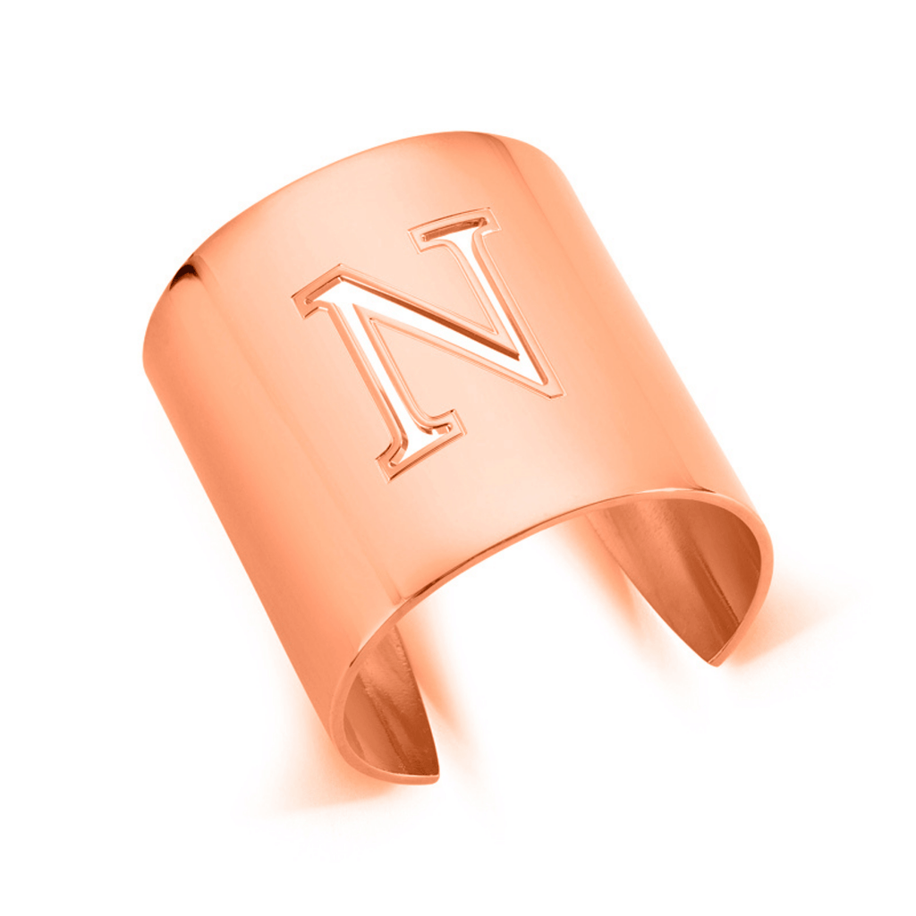 "Rose Gold ""N"" Initial cuff So Excessive"