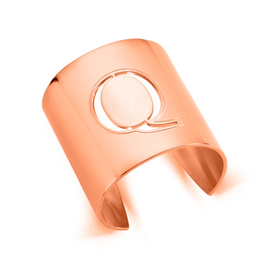 "Rose Gold ""Q"" Initial cuff So Excessive"