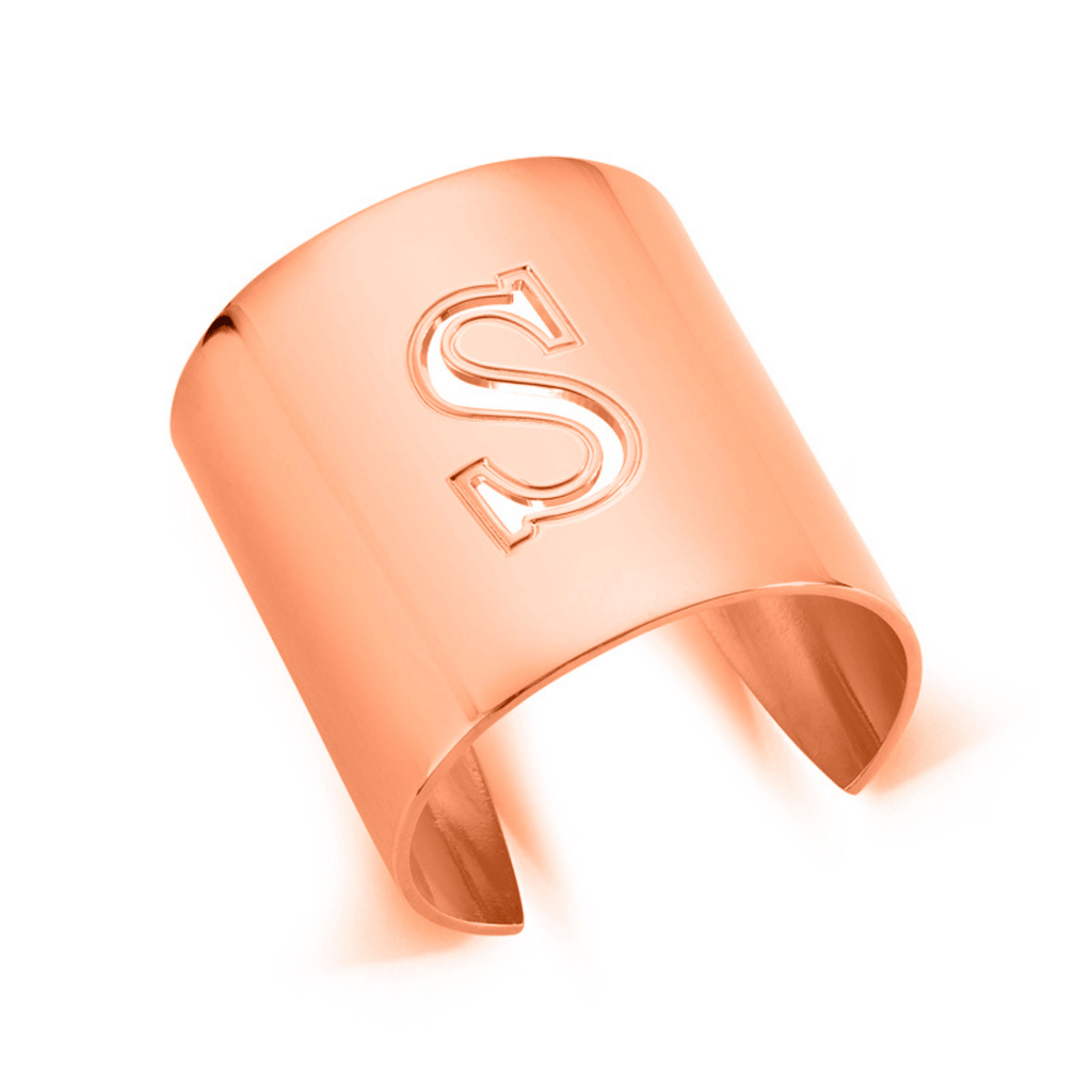 "Rose Gold ""S"" Initial cuff So Excessive"
