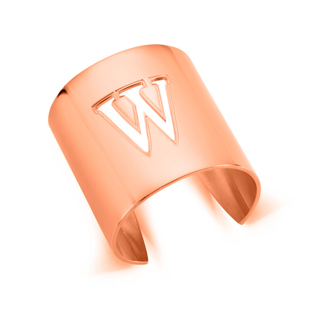 "Rose Gold ""W"" Initial cuff So Excessive"