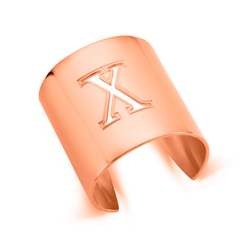 "Rose Gold ""X"" Initial cuff So Excessive"