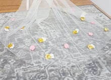 Load image into Gallery viewer, Pink, gold and ivory petal veil, Delilah